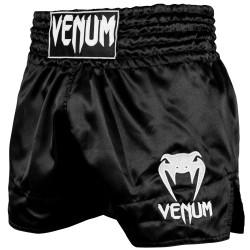 VENUM MUAY THAI SHORTS CLASSIC BLACK/WHITE