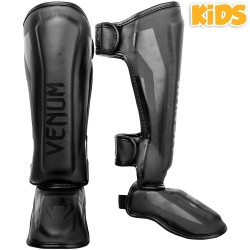 VENUM ELITE SHIN GUARDS KIDS - EXCLUSIVE - BLACK/BLACK