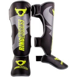 RINGHORNS CHARGER SHIN GUARDS INSTEPS - BLACK/NEO YELLOW