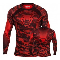 VENUM CAMO HERO COMPRESSION TSHIRT - RED/BLACK M, L, XL