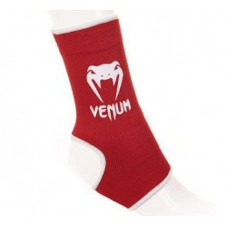 "VENUM ""KONTACT"" ANKLE SUPPORT GUARD - MUAY THAI / KICK BOXING - RED"