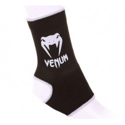 "VENUM ""KONTACT"" ANKLE SUPPORT GUARD - MUAY THAI / KICK BOXING - BLACK"