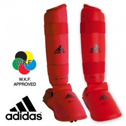 WKF Shin&Removable Instep Pad red