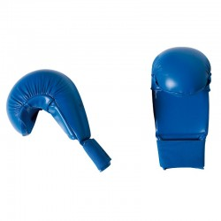 "WKF Karate Mitt ""Bigger"" blue"