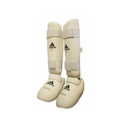 WKF Shin&Removable Instep Pad white