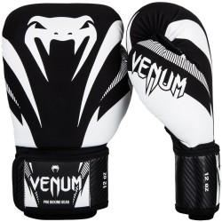 VENUM IMPACT BOXING GLOVES - BLACK/WHITE