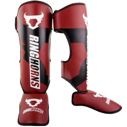RINGHORNS CHARGER SHINGUARDS INSTEPS - RED