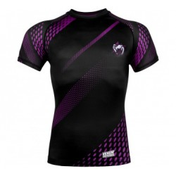 Venum Rapid Rashguard Short Sleeves Black/ Purple